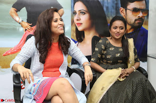 Actress Suma in Black Salwar Suit and Anusuya in orange Dress at winner movie press meet part 2 February 2017 (8).JPG