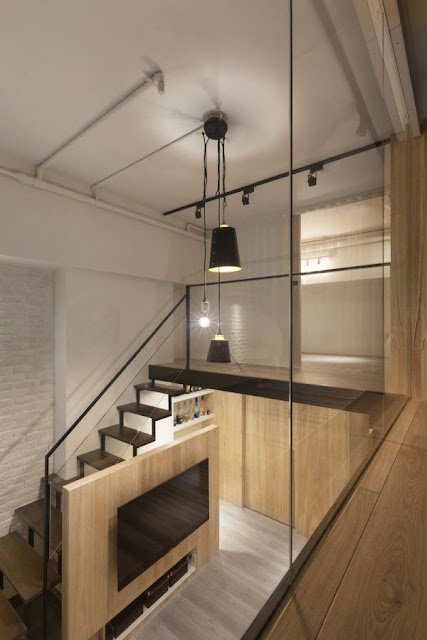 modern wood staircase design