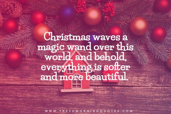 Christmas waves a magic wand