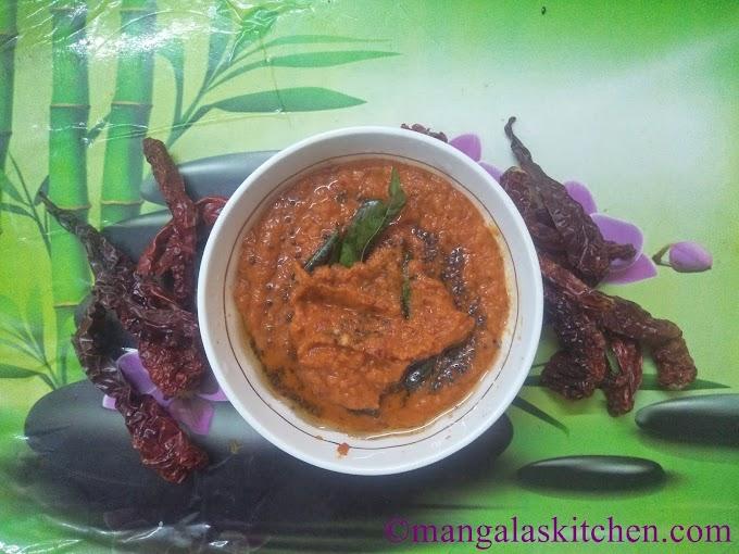 Tomato garlic Chutney | Varamilagai Poondu Chutney