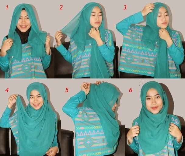 Cara memakai jilbab paris cantik