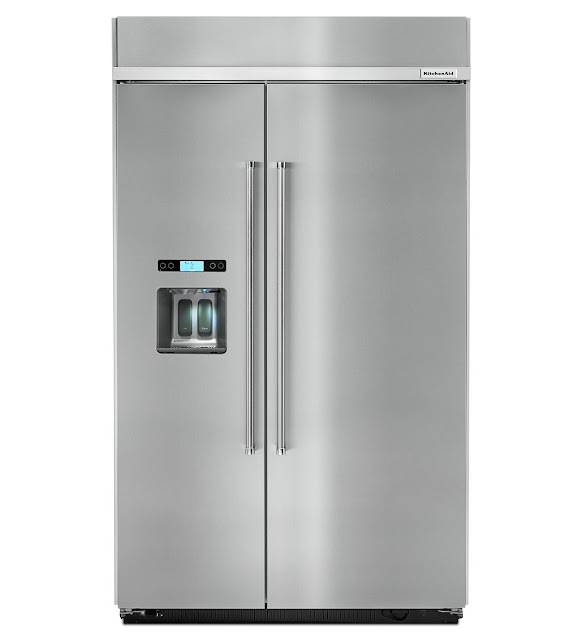 Built In Kitchenaid Side By Side Refrigerator KBSD618ESS