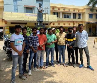 छात्र नेताओं ने स्वामी विवेकानंद जी की मनाई पुण्यतिथि