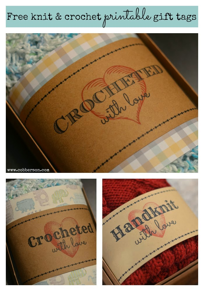 Rare image with printable crochet labels