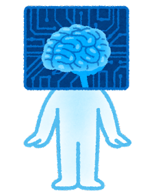 成長する人工知能のキャラクター(子供)