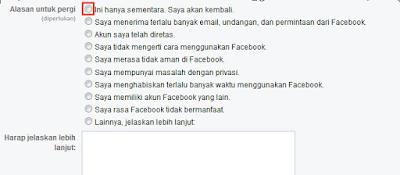 Cara Nonaktifkan Akun Facebook Sementara Terbaru