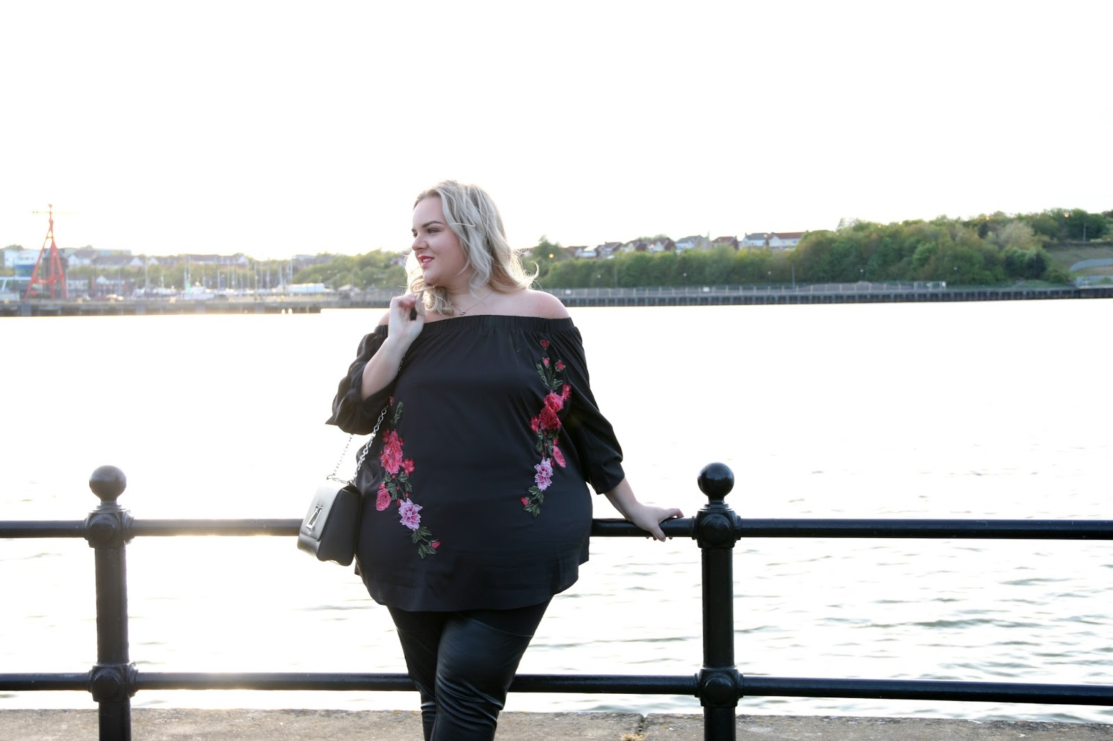 Plus Size Embroidered Bardot Top Yours Clothing Customs House Jason Cooks Comedy Club South Shields