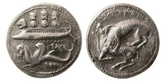 خمس غروش لبنانيه من 350 قم الى 1925 م - دولة لبنان الكبير  Byblose