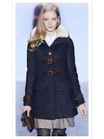 BL622-4 Palton elegant cu guler inalt, imblanit, accesorizat cu catarame in fata