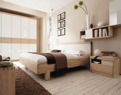 Wonderful Clean Shapes, Eye Friendly Colors And Unusual For Those Who Can Save Their  Rooms Nice And Need All Their Goods. This Is Modern Single Bedroom Design  From ...