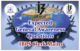 Expected General Awareness Questions for Clerical Mains