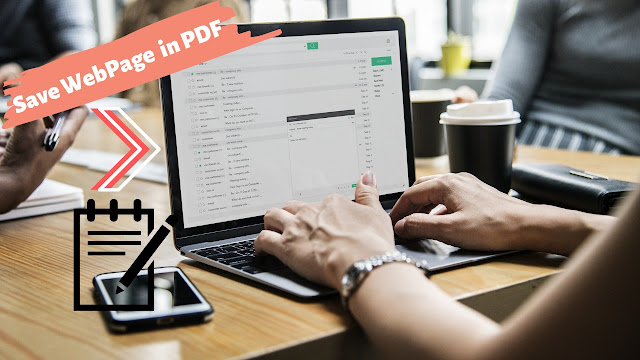 How to save webpage in PDF