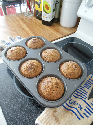 Better Whole Grain Banana Muffins, small batch cooking.