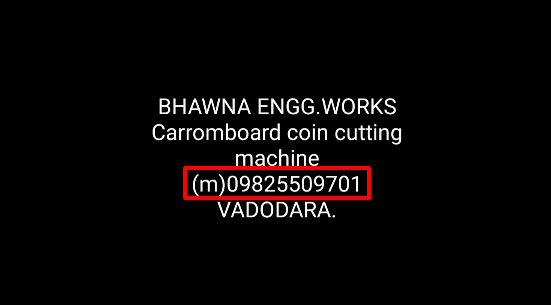 Carrom coin manufacturer contact number