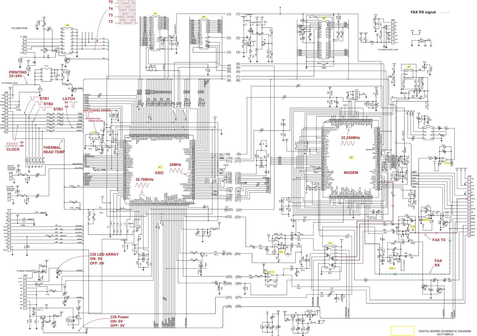 Panasonic KXFT78BRG POWER SUPPLY BOARD SCHEMATIC DIAGRAM