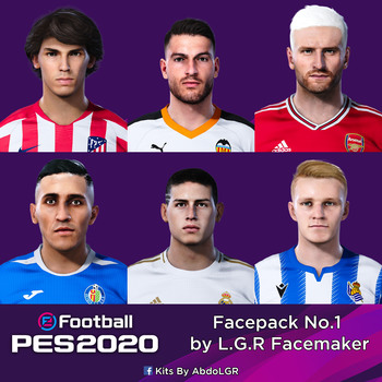 PES 2020 Facepack No.1 by L.G.R Facemaker