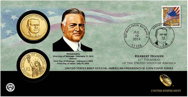 President Herbert Hoover 2014 One Dollar Coin Cover