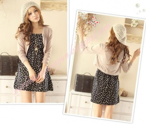 TOP DRESS + JACKET ~ Pink, Orange