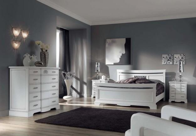 Dormitorios con paredes grises ideas para decorar - Papel pintado dormitorio principal ...
