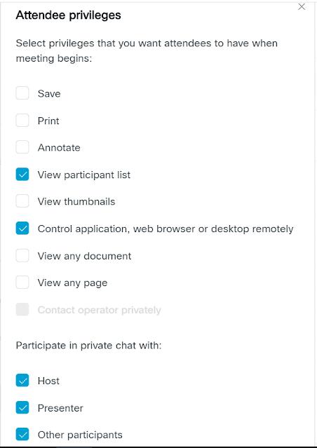 Attendee Privileges