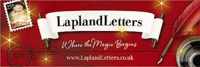 "Lapland Letters Logo with following text: ""Lapland Letters - Where the magic begins"""