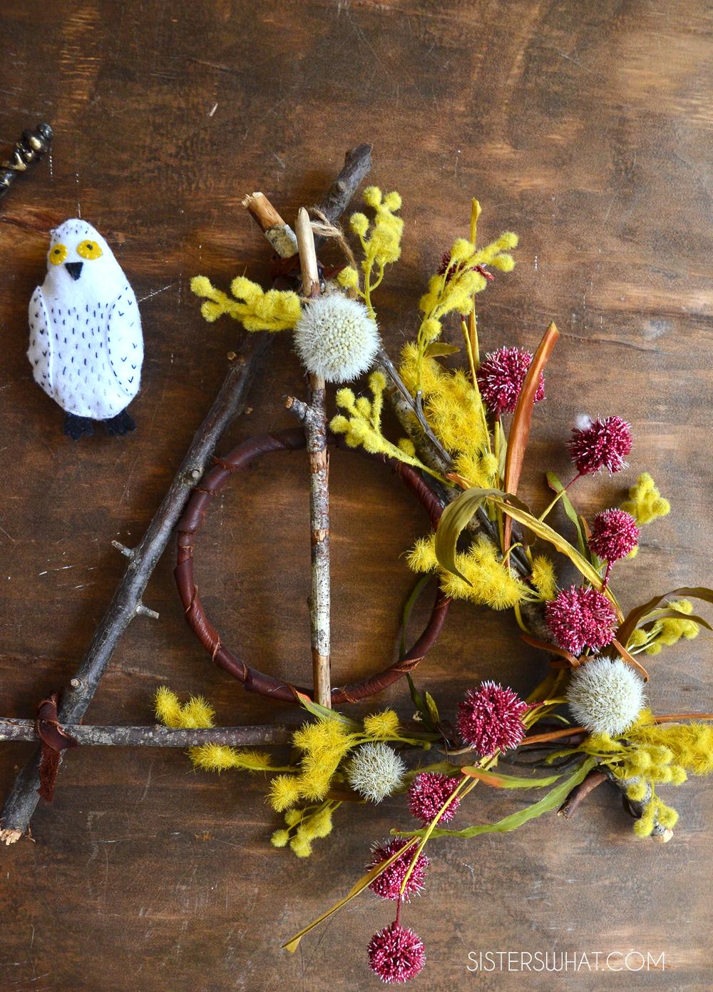 harry potter deathly hallows wreath diy