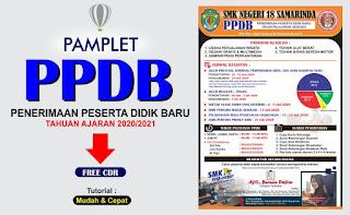 Desain Pamplet PPDB 2020 CDR