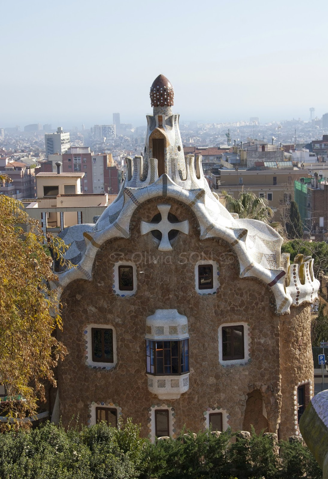 parc guell barcelone, espagne, europe