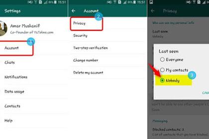 Cara Mudah Setting WhatsApp Agar Terlihat Offline (TIDAK ONLINE)