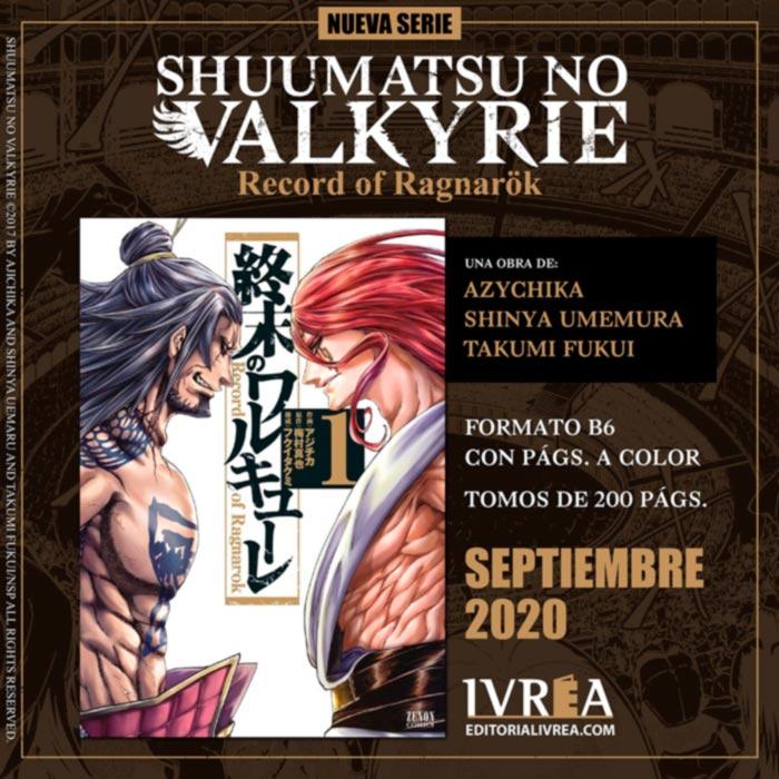 Shuumatsu no Valkyrie: Record of Ragnarok manga - Shinya Umemura, Takumi Fukui y Ajichika - Ivrea