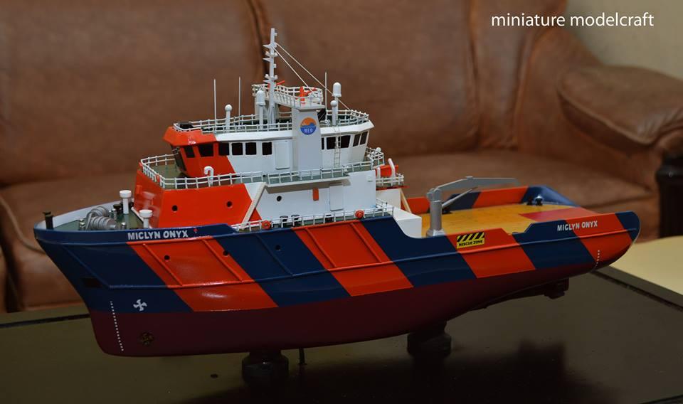 miniatur kapal ahts miclyn onyx rumpun art work jakarta surabaya planet kapal indonesia