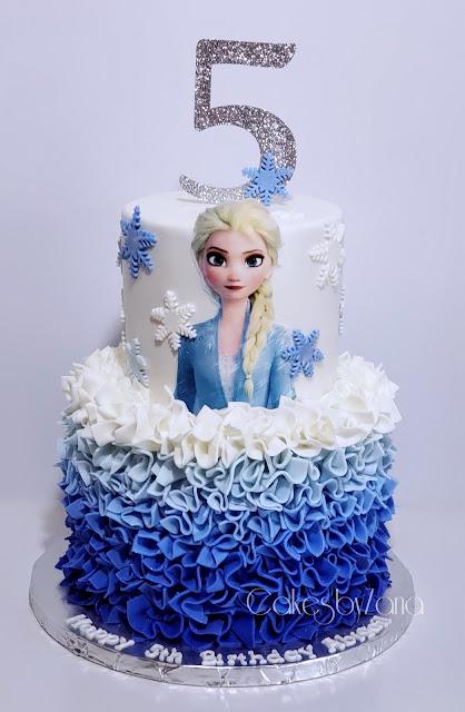 Fabulous Cakesbyzana Elsa Frozen 2 Birthday Cake Funny Birthday Cards Online Fluifree Goldxyz