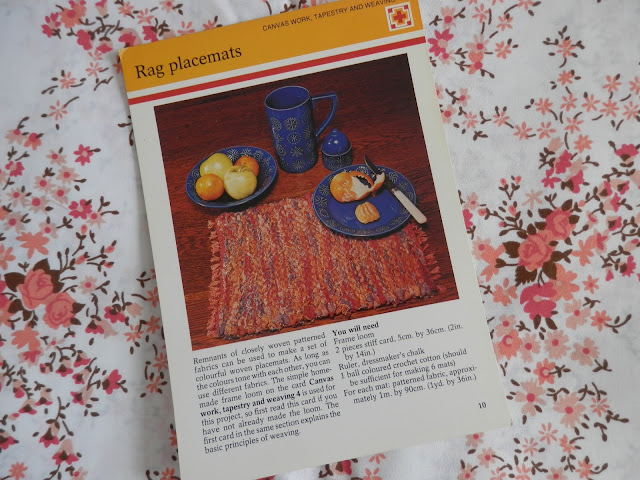 Retro Seventies Crafts 1970s rag place mats secondhandsusie.blogspot.co.uk