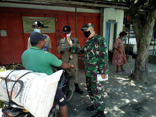 Danramil 05 Mojogedang Bersama Tiga Pilar Gencarkan Operasi Yustisi Tertib Masker