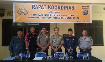 Kemenag Tanjungbalai Hadiri Rakor Operasi Bina Kusuma Toba 2016