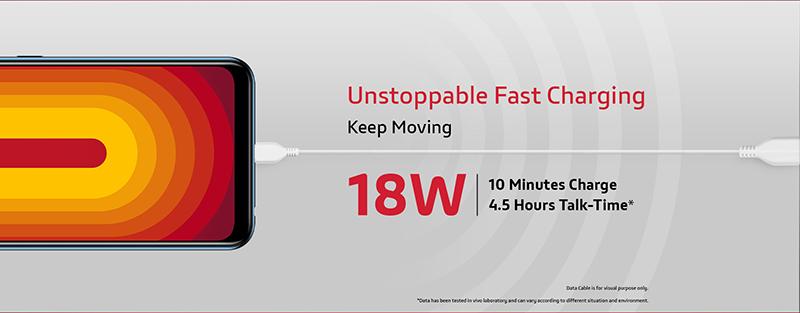 5,000mAh battery, 18W fast charging