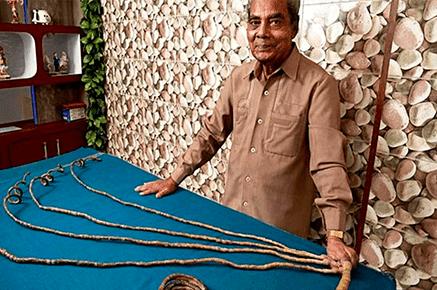 Homem não corta unhas há quase 63 anos e bate recorde mundial