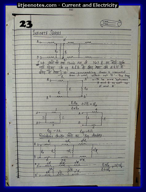 Current and Electricity Notes IITJEE 8