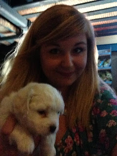 Selfie with a puppy in Kavos
