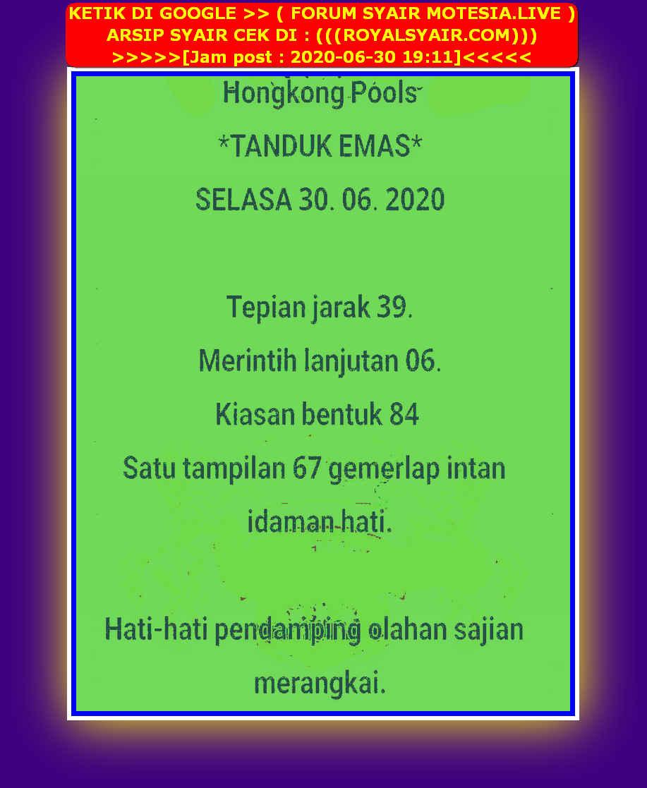Kode syair Hongkong Selasa 30 Juni 2020 37