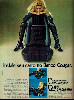 propaganda Banco Cougar - 1971;  1971; brazilian advertising cars in the 70s; os anos 70; história da década de 70; Brazil in the 70s; propaganda carros anos 70; Oswaldo Hernandez;