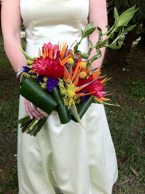 Bamboo Brilliance Exotic Bridal Bouquet by Stein Your Florist Co.