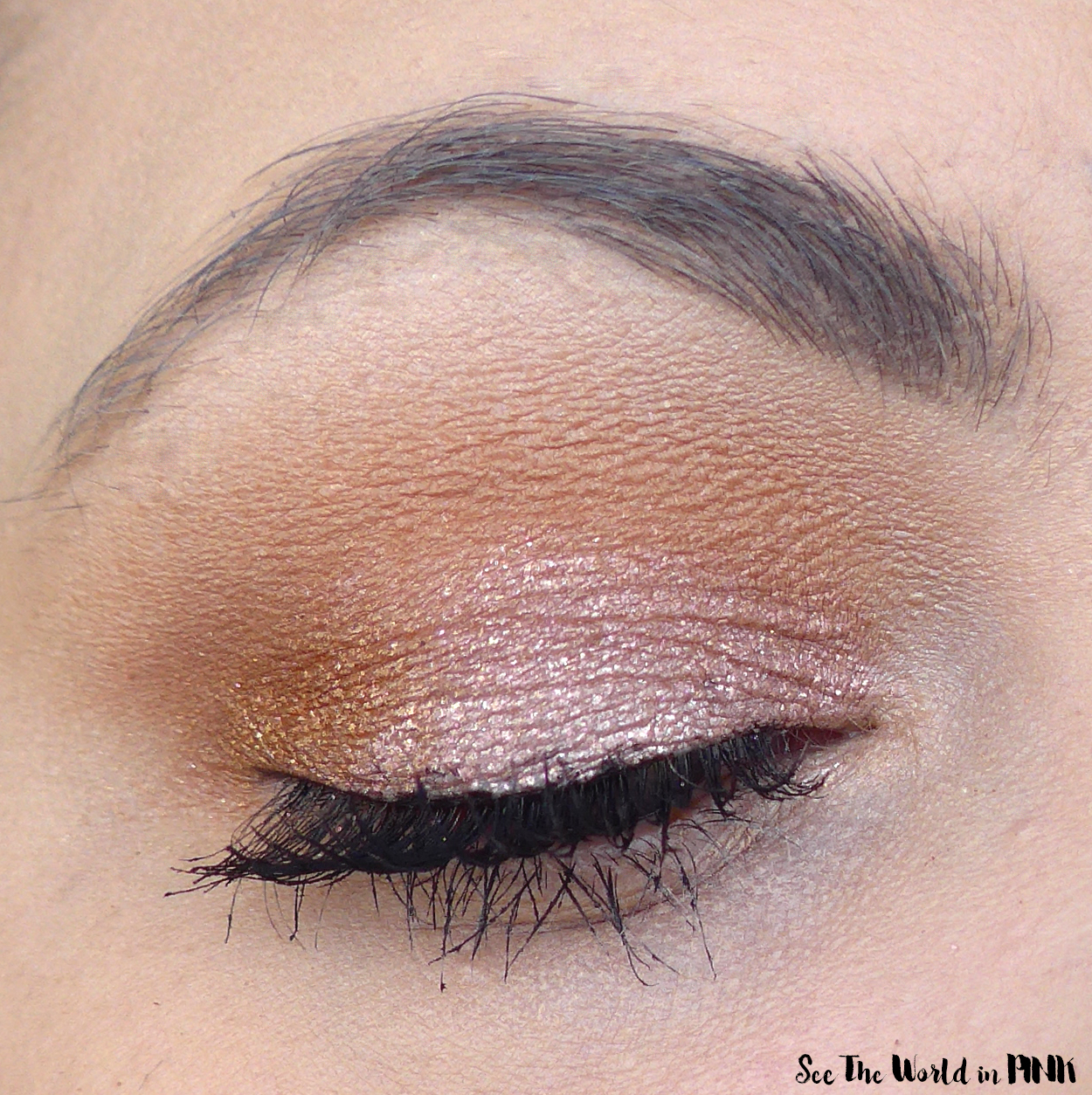Too Faced Peaches & Cream Crystal Whips Long-Wearing Shimmering Eye Shadow Veil in Totally Whipped