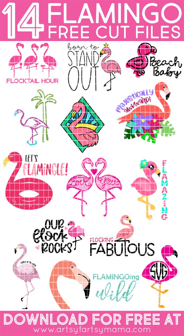 14 Free Flamingo Cut Files
