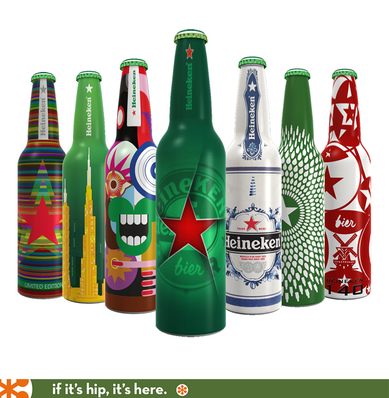 Winner and Finalists Heineken Future Bottle 'Remix' Challenge