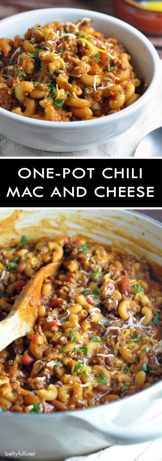 One Pot Chili Mac and Cheese #onepot #chili #mac #cheese