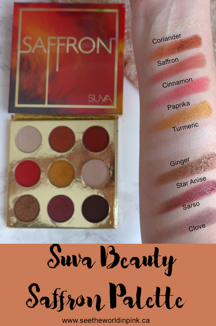 Suva Beauty Saffron Eyeshadow Palette - 3 Looks, Swatches and Review!