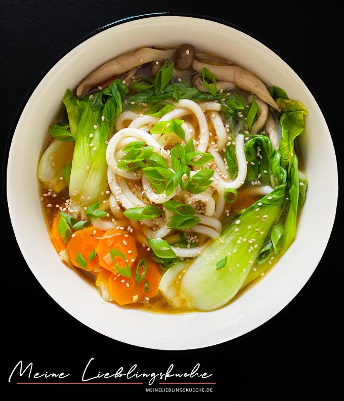 schnelle Miso Ramen Suppe mit Sesam-Paste