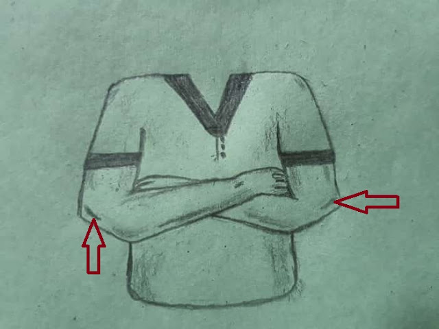 How to Draw Crossed Arms easily