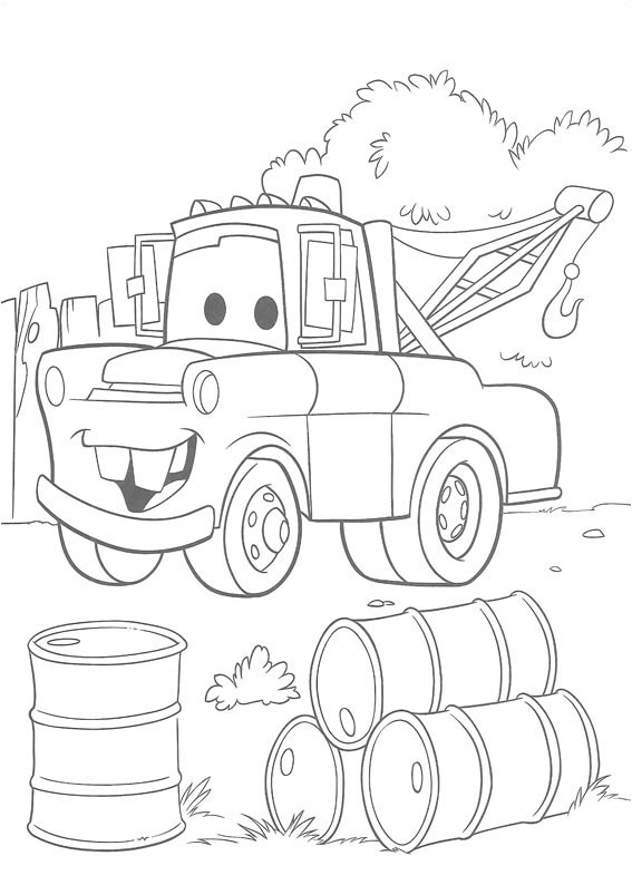 Lightning mcqueen and mater coloring page   Mater is the chief ...   794x567